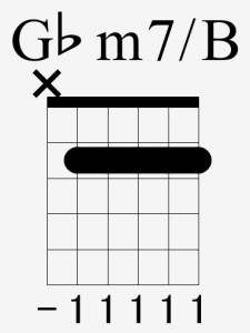 G♭m7onB