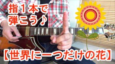 SMAPの名曲【世界に一つだけの花】を指1本で弾いてみよう♪(タブ譜付)【ギター超初心者向け】