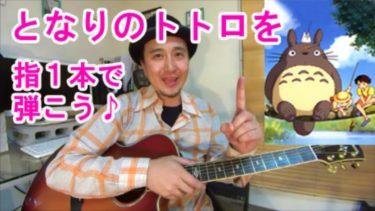 ギター入門におすすめ曲【となりのトトロ】を指1本で弾いてみよう♪【ギター超初心者向け】